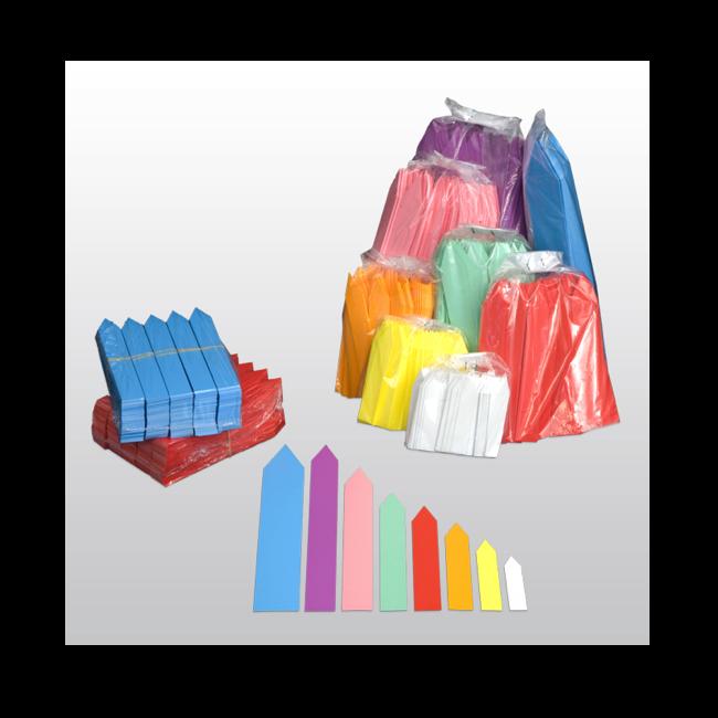 Stecketiketten aus PVC Folie 350µ, 16 x 100 mm, 500 Etiketten pro Beutel
