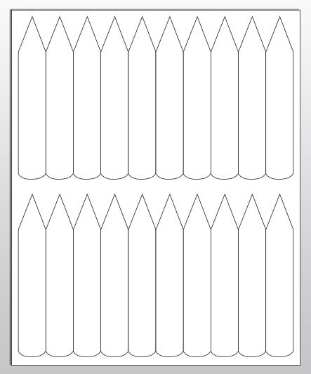 Stecketiketten aus PET Folie 200µ, 20 x 120 mm, weiß, 100 Blatt pro Packung