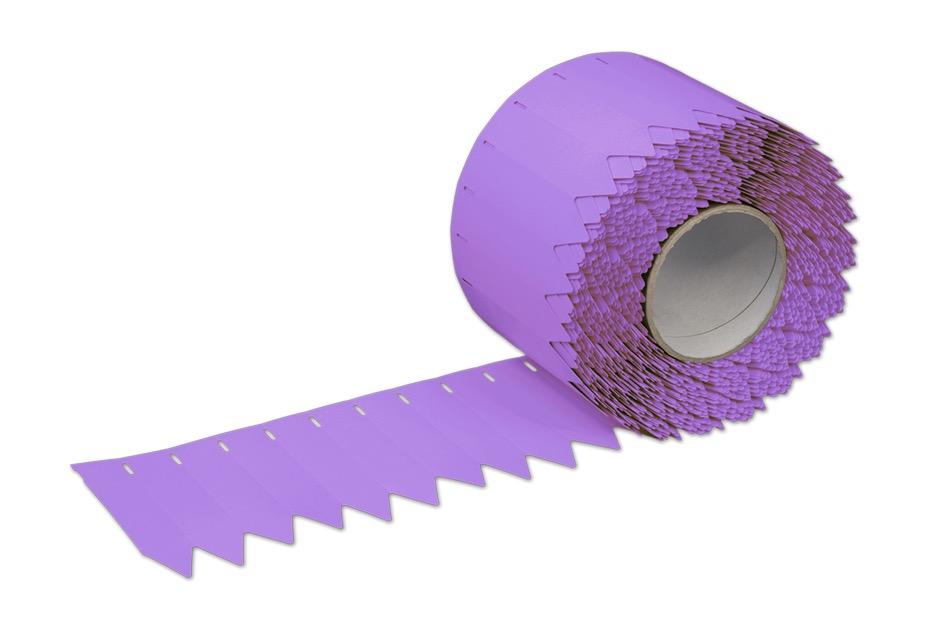 Stecketiketten aus PVC Folie 350µ, 25 x 100 mm, 76 mm Kern, 2000 Etiketten je Rolle